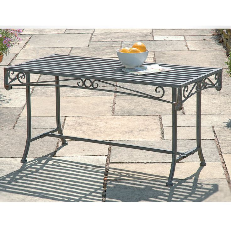 versailles steel coffee table in antique grey new garden range thompson morgan