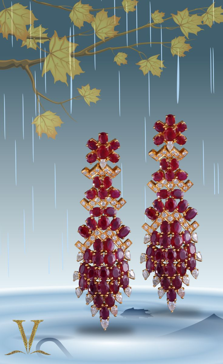 Beautiful and royal rubies to accompany this season of love.