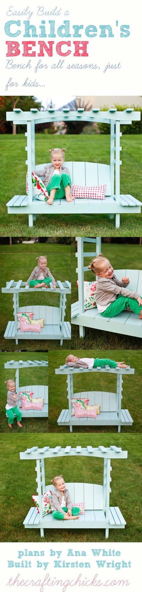 Child's Bench With Arbor Plans An Easy DIY