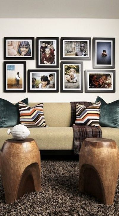 Endearing wall decor in living room