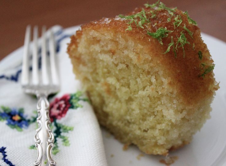 Lime Syrup Cake. Sticky, moist and oh so limey! www.cookfasteatslow.com