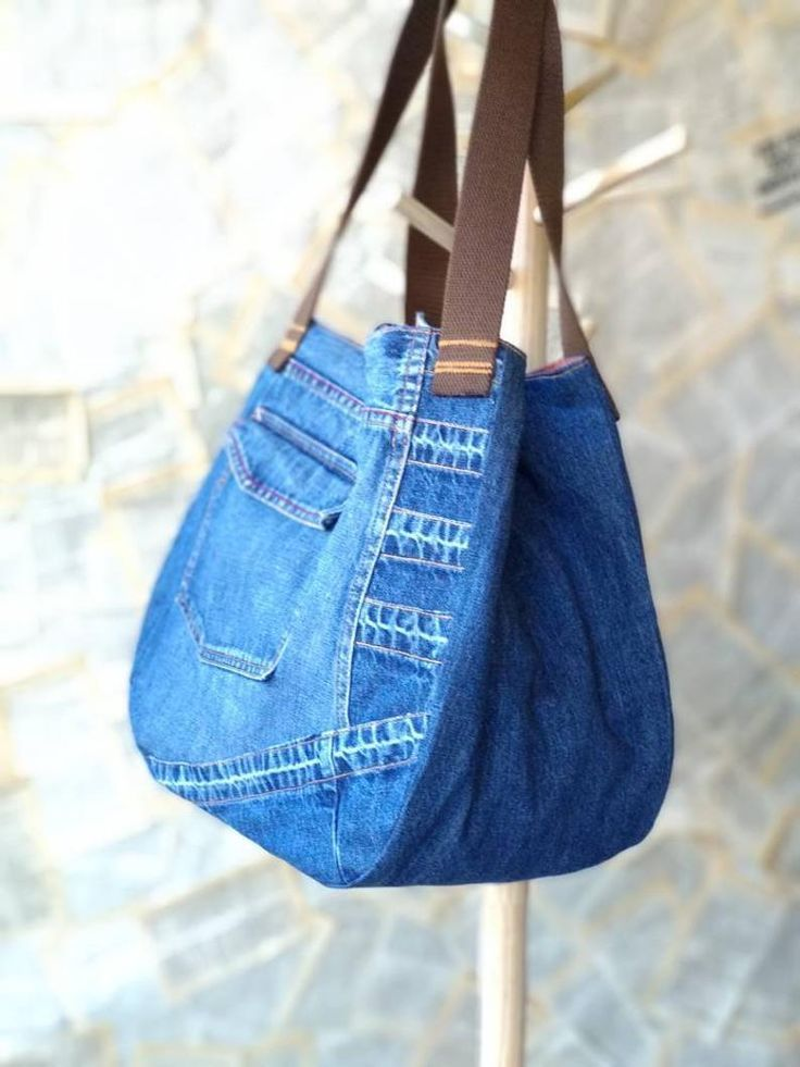 Large Recycled Upcycled Jeans Denim Tote Bag Gym Bag Diaper Bag Shopping Market …
