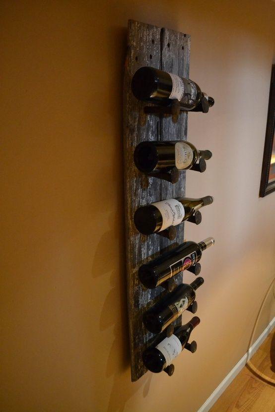Barn Wood Wine Rack! I'll take two please!
