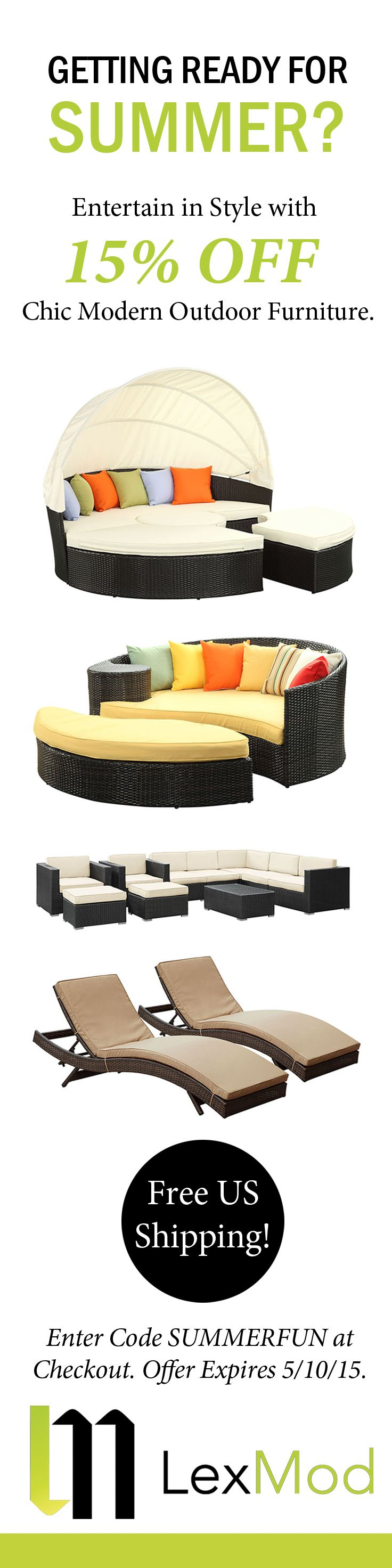 Get Read for Summer with the Mod Outdoor Patio Furniture Sale Going on Now at Lexmod.com!