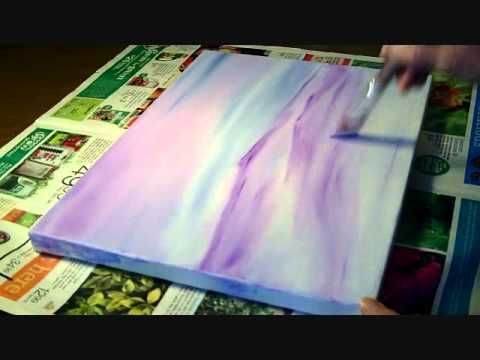 "A short demo of the painting ""She Walks Alone"" by artist Terry-Ann.  An intuitive painting that was created using imagination and the feeling of being alone."