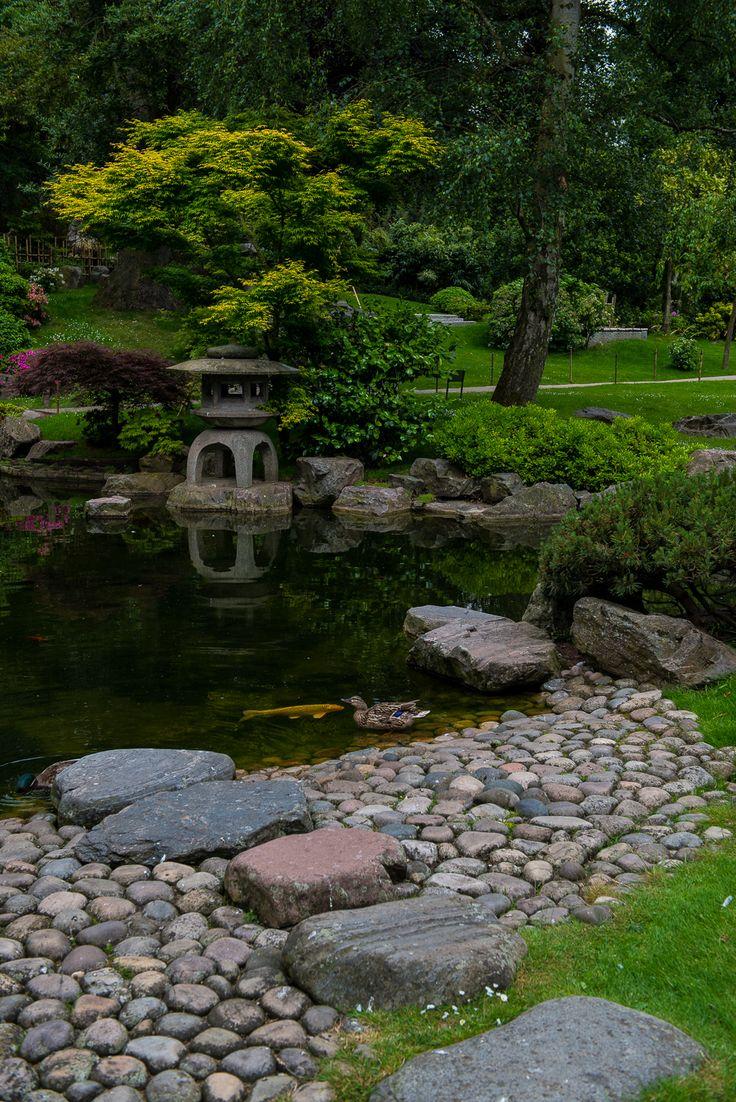Japanese zen gardens with pond - Kyoto Garden Holland Park London