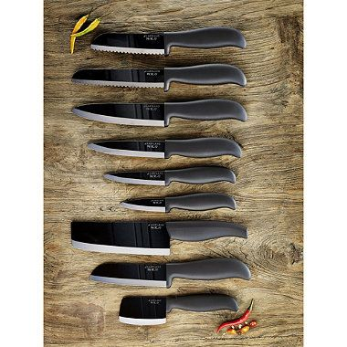 Lakeland Ceramic Knife Range. The black, mirror-polished blades of these beautiful knives will retain their cutting edge for much longer than conventional, forged steel knives. From £4.29.