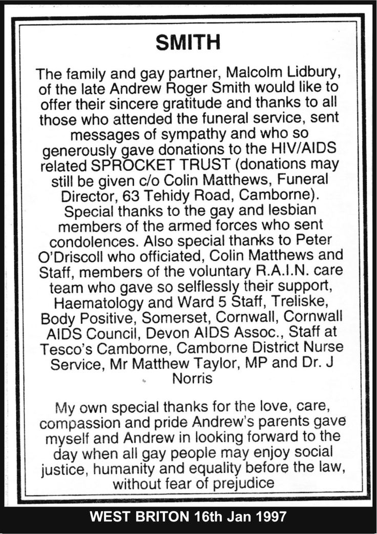 West Briton Newspaper: Andrews Funeral Service. #LGBT  http://www.lgbthistorycornwall.blogspot.com
