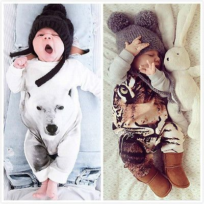 Kamimi Drukowanie 3D Niedźwiedź/Tiger/Panda Style Bawełna Romper dla 0 24 M Newborn Baby Chłopcy dziewczyny zwierząt ubrania kombinezon Dla Niemowląt w  najnowszy Moda Dzieci Dziewczyny Stroje!!wysoka Jakość i nowy 100%główny Kolor: JAK Na Zdjęciunowy w Modziemateri od Pajacyki na Aliexpress.com   Grupa Alibaba