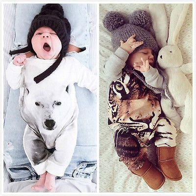 Kamimi Drukowanie 3D Niedźwiedź/Tiger/Panda Style Bawełna Romper dla 0 24 M Newborn Baby Chłopcy dziewczyny zwierząt ubrania kombinezon Dla Niemowląt w  najnowszy Moda Dzieci Dziewczyny Stroje!!wysoka Jakość i nowy 100%główny Kolor: JAK Na Zdjęciunowy w Modziemateri od Pajacyki na Aliexpress.com | Grupa Alibaba