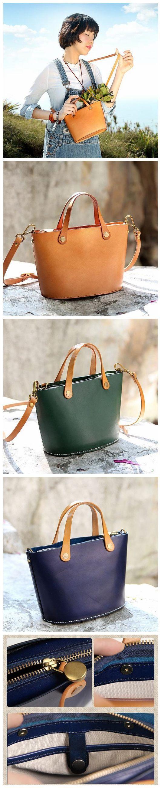 Handmade Natural Blue Leather Handbag Messenger Bag Small Satchel 15020