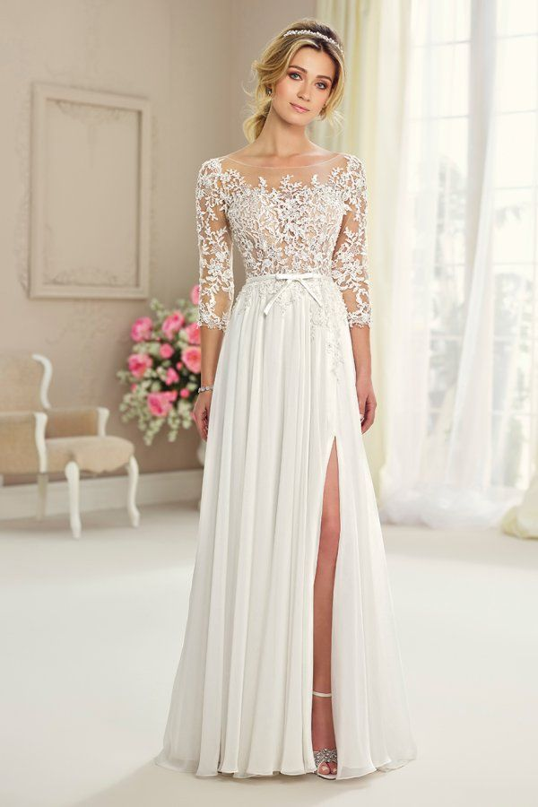 Wedding gown by Enchanting by Mon Cheri.