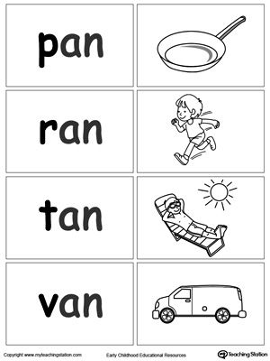 Printables An Words For Kindergarten 1000 images about kindergarten language arts on pinterest sight free word sort game an words worksheet topics phonics