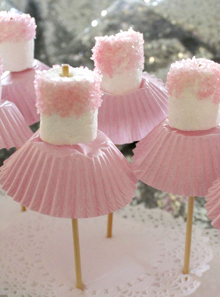 ...Who knew?  Ballet marshmallow pops in coral blush