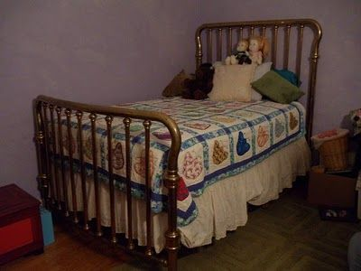 adorable antique brass bed - Brass Beds