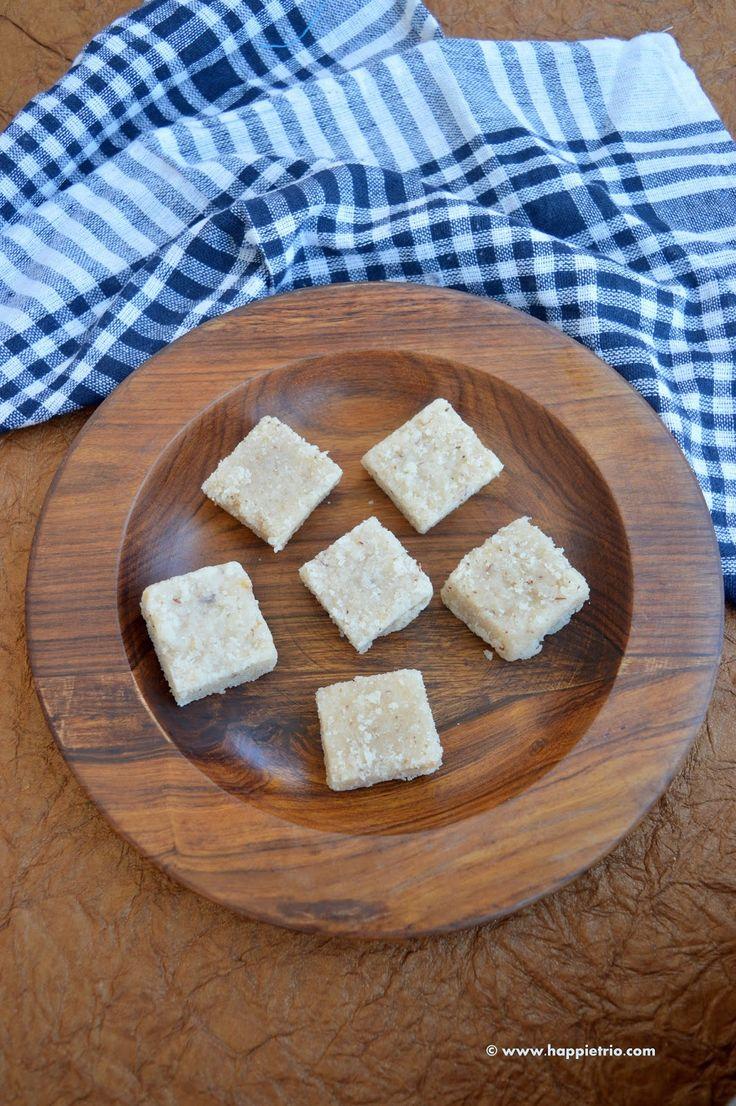 Coconut Burfi | Thengai Burfi | Nariyal ki Burfi | Coconut Fudge