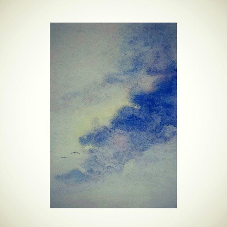 Chasing Horizon | watercolor on paper