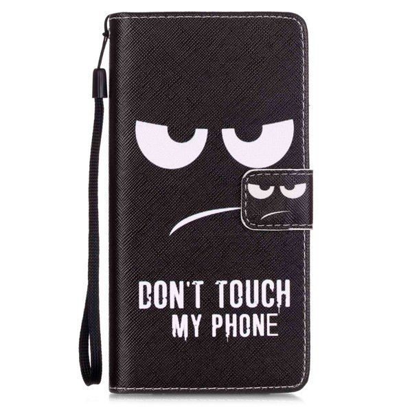 Smart Flip Angry Eyes PU Wallet Card Holder Cover Case For Huawei P9 Lite