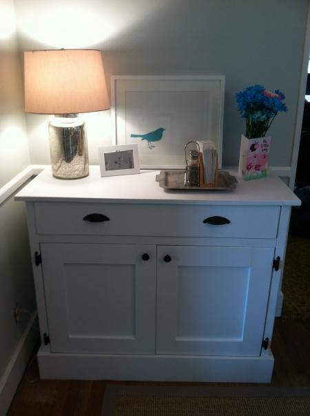scaled down sideboard: Woodworking Ideas, Woodworking Projects, Wood Ideas, Planks Wood, Wood Sideboard, Wood Worki, Woodworking Furniture