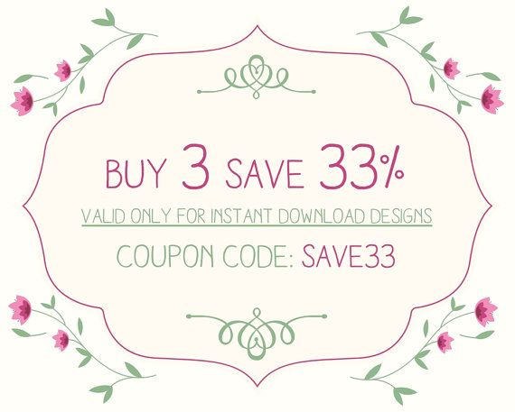 Buy two printables get one FREE Bundle and save SAVE by FPD3sign