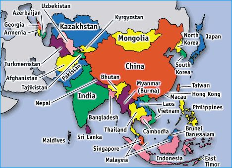 East Asia Map Study Guide - CHRISTINA FRIEDLE
