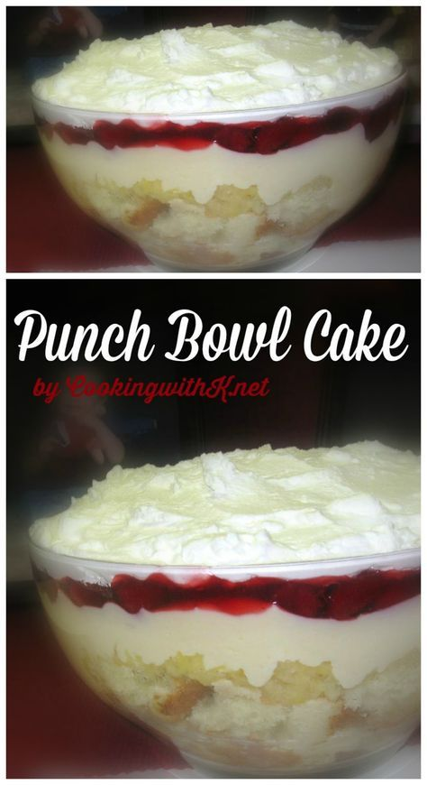 Cooking with K | Southern Kitchen: Super Bowl Cake aka Punch Bowl Cake, {Granny's Recipe}