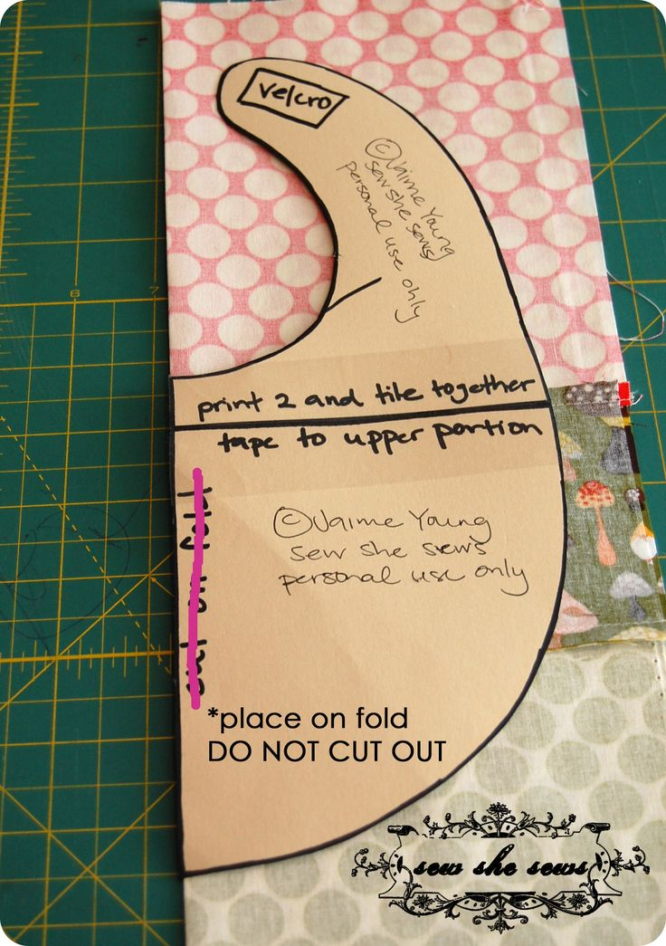 Bib template and tutorial; I love her method of sewing this bib!