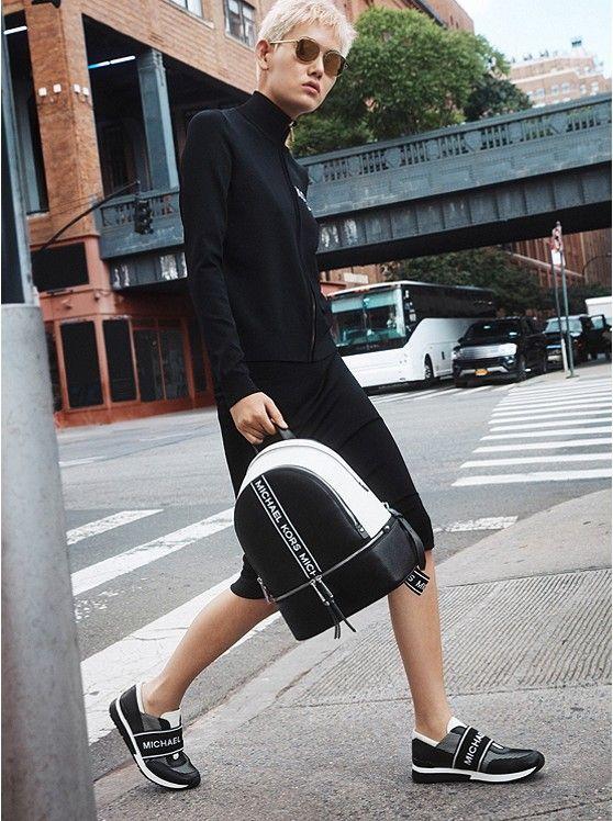 d566134596c3 MICHAEL KORS Rhea Medium Logo Tape Backpack in 2019 | * Fall Winter ...