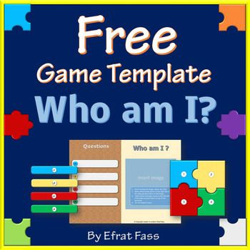 """* Who am I """" is a puzzle game template , designed especially for teachers, helping to reveal a new topic, summarize a theme, engaging students in a fun way. *The template is designed in PowerPoint software and are suitable for 2010 version and beyond. *Includes 1 game templates with 4 questions to reveal the image: *The template is simple to use and operate: just insert the image and cover"""