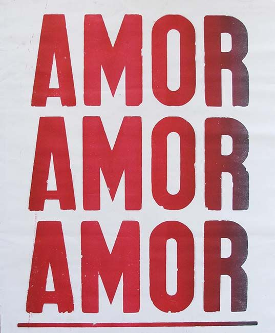 """poster """"amor amor amor"""". Can frame it and have on the bedroom wall"""