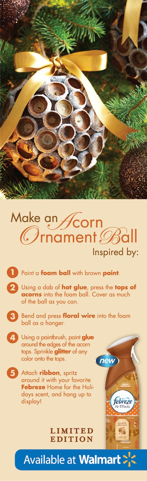 These #DIY ornaments would look so elegant on any Christmas tree! #FebrezeHoliday