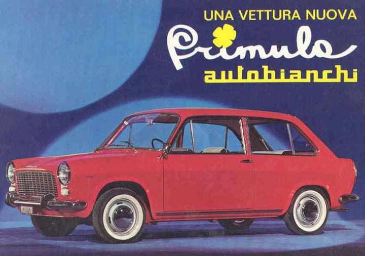 1965 #Autobianchi Primula brochure. It was the first FWD car ever made by #Fiat group.