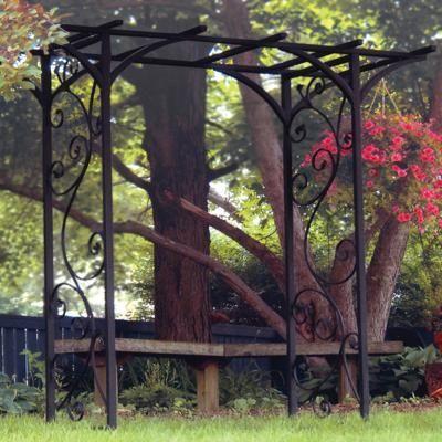 Garden Arches And Arbors Panacea 84x76x26 Black Garden