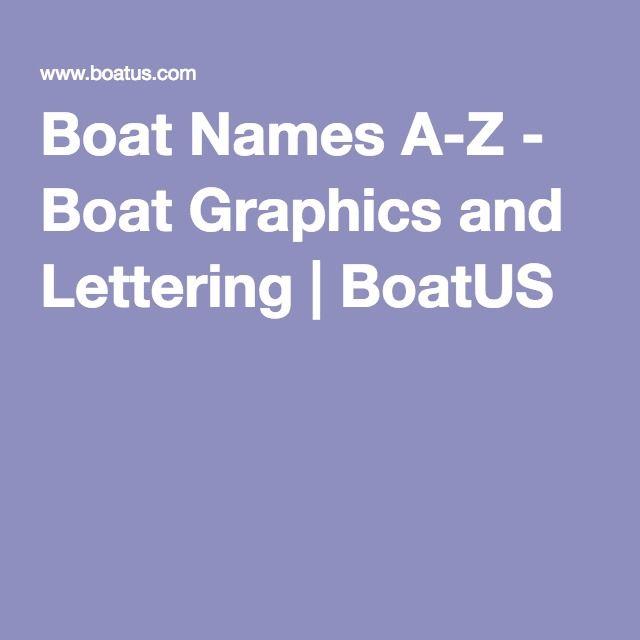 Boat Names A Z