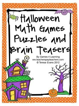 Halloween Math Games, Puzzles and Brain Teasers is a collection of Halloween Math from Games 4 Learning. It is loaded with spooky math fun and is perfect for October math activities. $