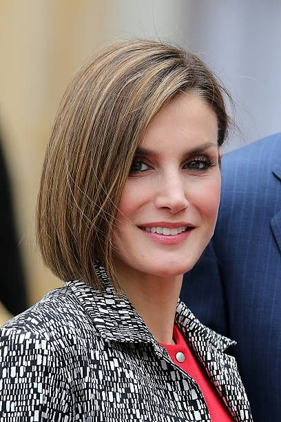 Queen Letizia of Spain attend a Lunch hosted by french Prime Minister Manuel Valls at the Hotel Matignon during The official visit in France on June 3, 2015 in Paris, France.