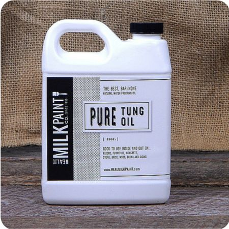 """Pure tung oil is the first truly """"green"""" finish, it is all natural and contains zero VOC's, and is a perfect non toxic finish for any wood."""