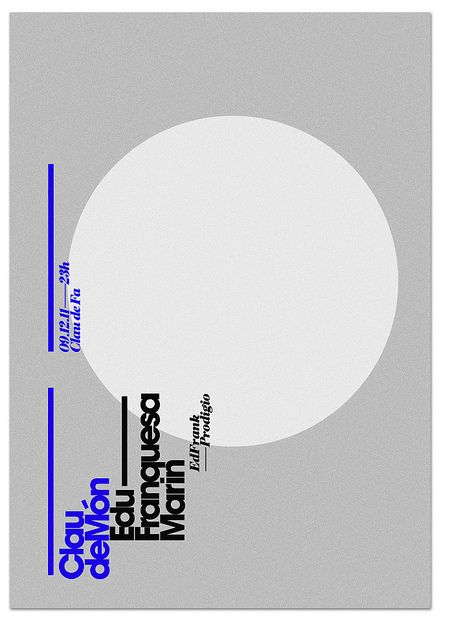 Poster Clau de món - marindsgn by MARIN DSGN, via Flickr, via graphic design layout, identity systems and great type lock-ups.