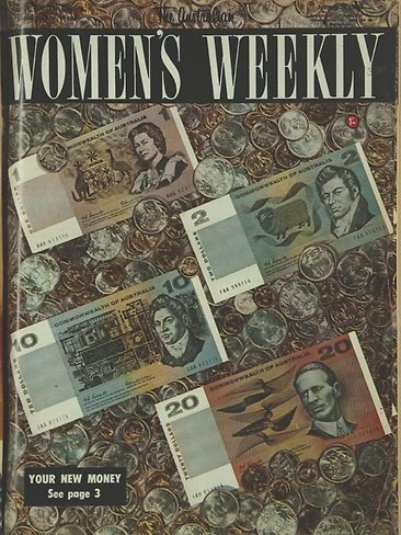 Women's Weekly cover introducing decimal currency in 1966 via theaustralian