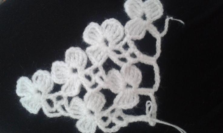 Çiçekli şal modeli yapımı
