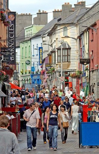 """Galway, Ireland- """"poised at the very edge of Europe and in the heart of one of Ireland's most beautiful counties, the city of Galway, is the most Irish of all Irish cities.""""  (1000 Places to See Before You Die)"""