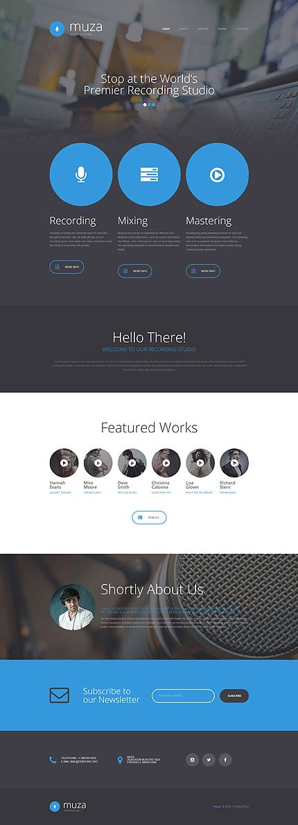 Music website inspirations at your coffee break? Browse for more Bootstrap #templates! // Regular price: $75 // Sources available: .HTML, .PSD #Music #Bootstrap