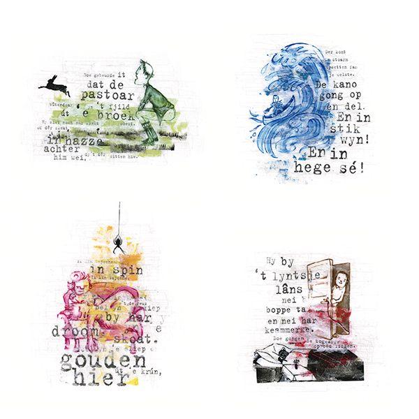 4 of 60 Full Colour Illustrations. Voor het boek 'Sprookjes uit de Friese Wouden', verzameld door Dam Jaarsma. Ism Peter Boersma http://www.bornmeer.nl/winkel/sprookjes-uit-de-friese-wouden/