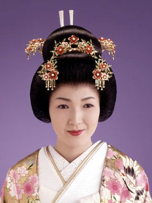 Modern Japanese Bride Hanayome Style Bunkin Takashimada (This is NOT a geisha!):