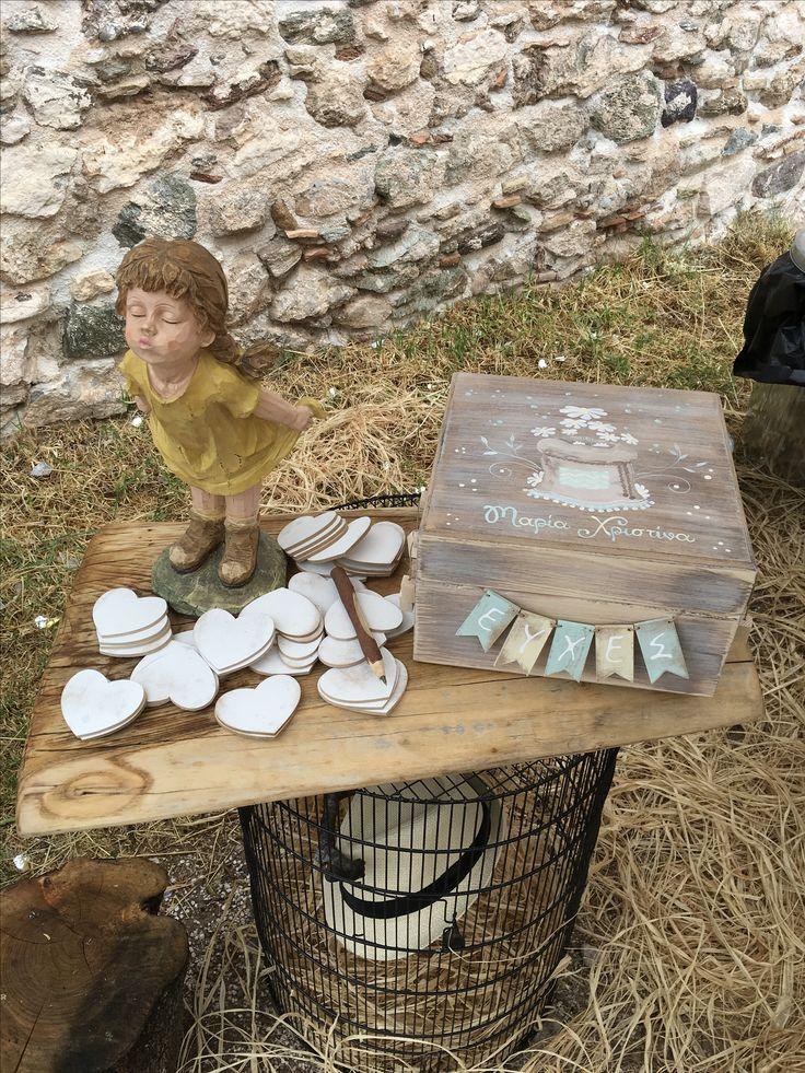 Η βάπτιση της Μαρίας Χριστίνας με χαμομήλια #candybar #decoration #nikolas_ker #vaptisi #vaftisi #girl #decoration #hats #favors #boboniera #lemonade_bar #chamomille #wishes #box #κουτί_ευχών