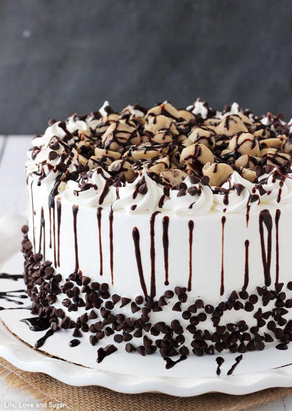 Cookie Dough  Chocolate Chips Ice Cream Cake Recipe