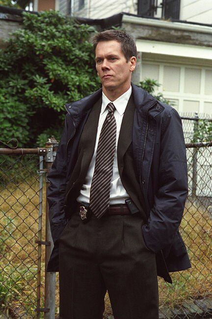 Kevin BACON (b. 1958) [] Notable Films: Footloose (1984); Friday the 13th (1980); Diner (1982); She's Having a Baby (1988); Flatliners (1990); JFK (1991); Tremors (1991); A Few Good Men (1992); The River Wild (1994); Apollo 13 (1995); Murder in the First (1995); Wild Things (1998); Hollow Man (2000); In the Cut (2003); Mystic River (2003); The Woodsman (2004); Where the Truth Lies (2005); Frost/Nixon (2008) - Still from Mystic River