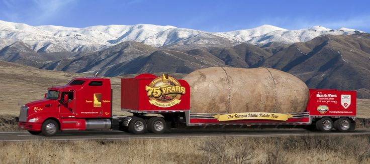 Big Idaho Potato Truck Tour Visits Atlanta.      http://www.bigidahopotato.com/    The Big Idaho Potato Truck is in the Atlanta area today, tomorrow (3  July), and Wed. July 4th:    Tuesday, July 3 Atlanta, GA  # 9:00am - 12:30pm: Atlanta Food Truck Park 1850 Howell Mill Rd.  # 2:00pm - 7:00pm: Publix 3200 Holcomb Bridge Rd    Wednesday, July 4 Dunwoody, GA  # 9:00am - 11:00am: 4th of July Dunwoody Parade