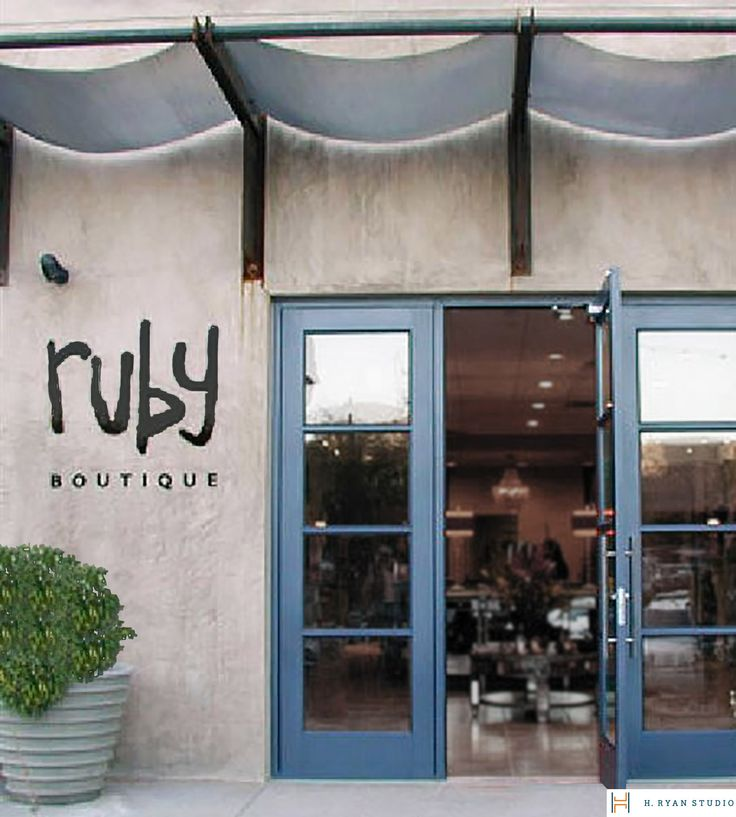 H. Ryan Studio - Ruby Boutique store front