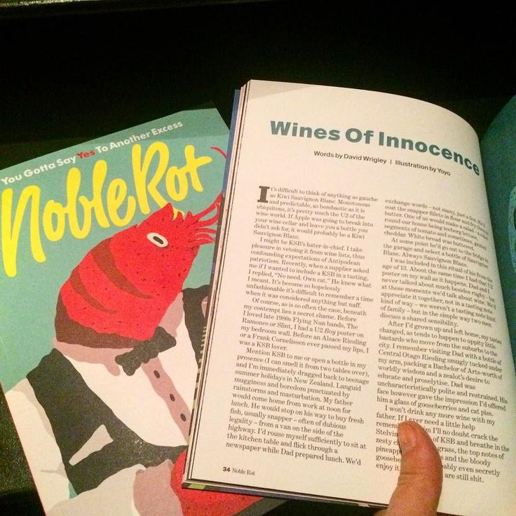 It's cool when your mates feature in Noble Rot Mag @noblerotbar - last chance to catch issue 12 probably! @wriglemethis #nzsav #noblerot #noblerotmag #climpsonsarchalumni #climpsonsarch #yougottasayyestoanotherexcess
